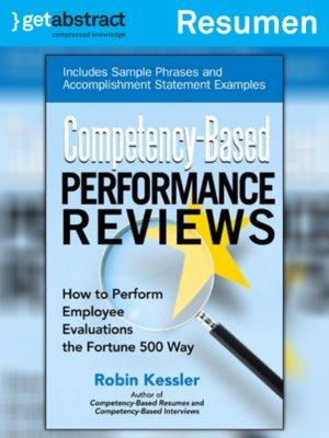 cover image of Revisiones de desempeño por competencias (resumen)