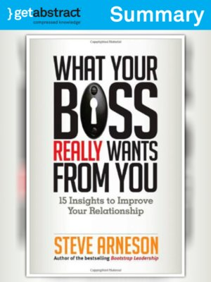 cover image of What Your Boss Really Wants from You (Summary)