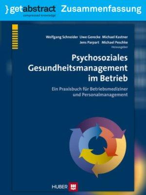 cover image of Psychosoziales Gesundheitsmanagement im Betrieb (Zusammenfassung)