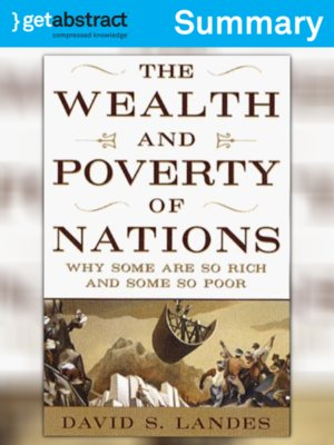 cover image of The Wealth and Poverty of Nations (Summary)
