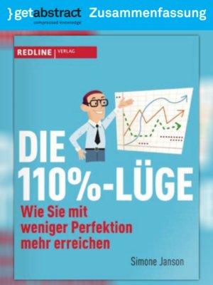 cover image of Die 110%-Lüge (Zusammenfassung)