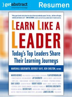 cover image of Aprenda como líder (resumen)