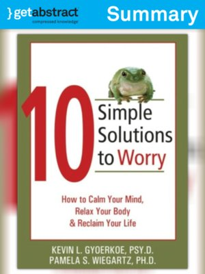 cover image of 10 Simple Solutions to Worry (Summary)