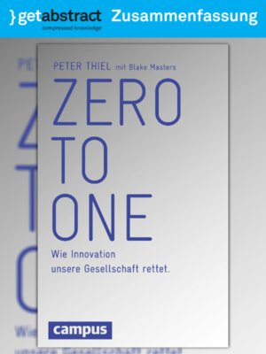 cover image of Zero To One (Zusammenfassung)