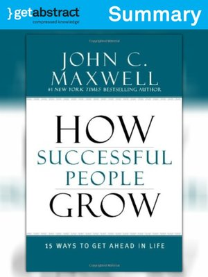 cover image of How Successful People Grow (Summary)