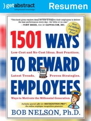 cover image of 1501 formas de recompensar a sus empleados (resumen)