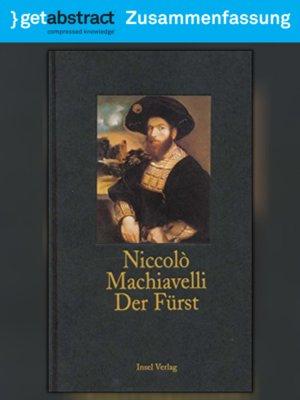 Der Fürst Zusammenfassung By Niccolò Machiavelli Overdrive