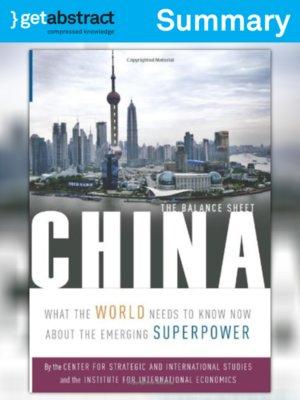 cover image of China: The Balance Sheet (Summary)