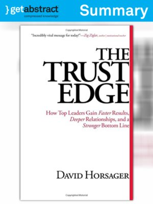 cover image of The Trust Edge (Summary)
