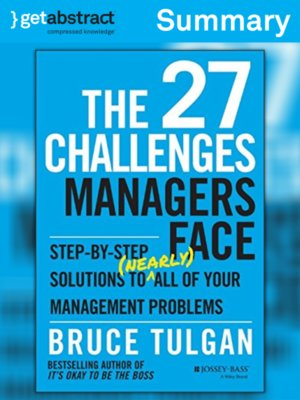 cover image of The 27 Challenges Managers Face (Summary)