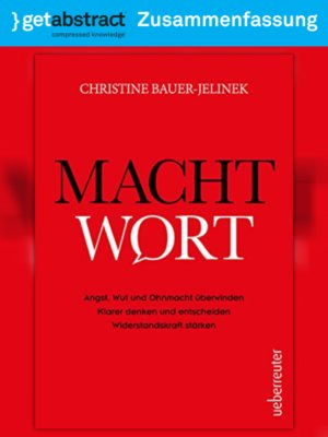 cover image of Machtwort (Zusammenfassung)