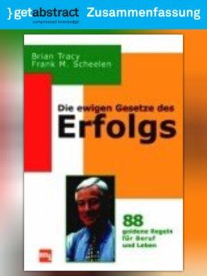 cover image of Die ewigen Gesetze des Erfolgs (Zusammenfassung)