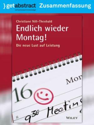 cover image of Endlich wieder Montag! (Zusammenfassung)