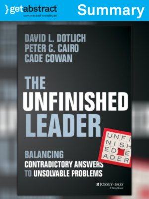 cover image of The Unfinished Leader (Summary)
