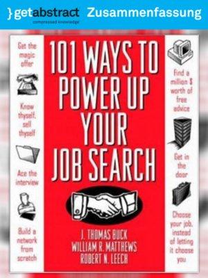 cover image of 101 Wege zur erfolgreichen Jobsuche (Zusammenfassung)