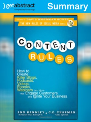 cover image of Content Rules (Summary)