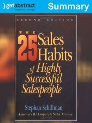 cover image of The 25 Sales Habits of Highly Successful Salespeople (Summary)