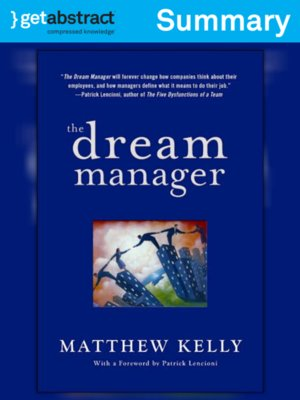 cover image of The Dream Manager (Summary)
