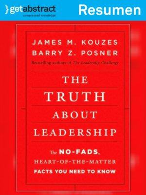 cover image of La verdad sobre el liderazgo (resumen)