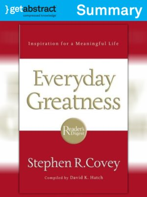 cover image of Everyday Greatness (Summary)
