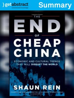 cover image of The End of Cheap China (Summary)