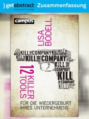 cover image of Kill the Company (Zusammenfassung)