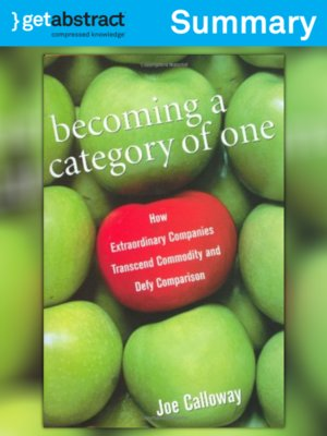 cover image of Becoming a Category of One (Summary)