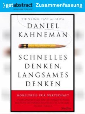 cover image of Schnelles Denken, langsames Denken (Zusammenfassung)