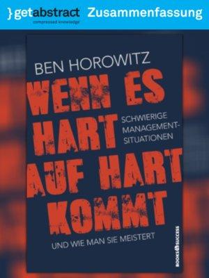 wenn es hart auf hart kommt ben horowitz author - Zusammenfassung Ben