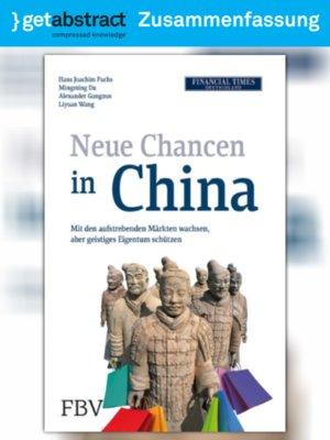 cover image of Neue Chancen in China (Zusammenfassung)