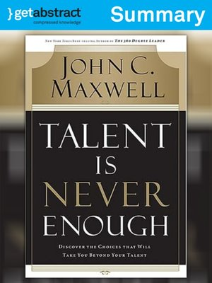 cover image of Talent Is Never Enough (Summary)
