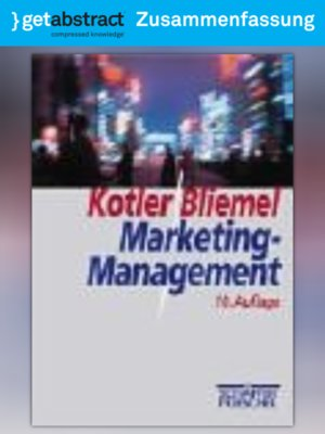 cover image of Marketing-Management (Zusammenfassung)