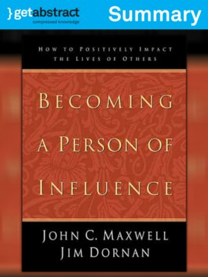 cover image of Becoming a Person of Influence (Summary)