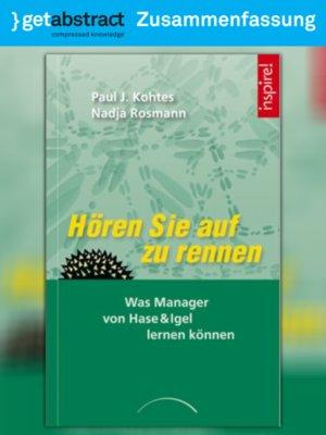 cover image of Hören Sie auf zu rennen (Zusammenfassung)