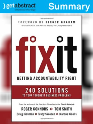 cover image of Fix It (Summary)