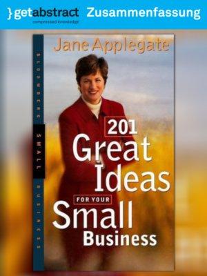 cover image of 201 tolle Ideen für Ihr Kleinunternehmen (Zusammenfassung)