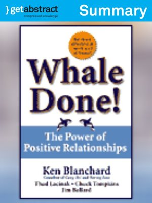 cover image of Whale Done! (Summary)