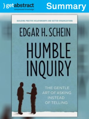 cover image of Humble Inquiry (Summary)