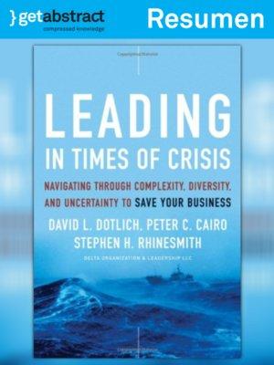 cover image of Liderazgo en tiempos de crisis (resumen)