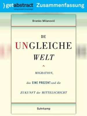 cover image of Die ungleiche Welt (Zusammenfassung)