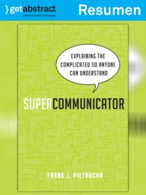 cover image of Supercomunicador (resumen)