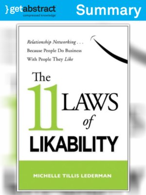 cover image of The 11 Laws of Likability (Summary)