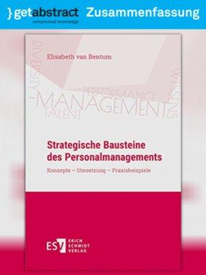 cover image of Strategische Bausteine des Personalmanagements (Zusammenfassung)