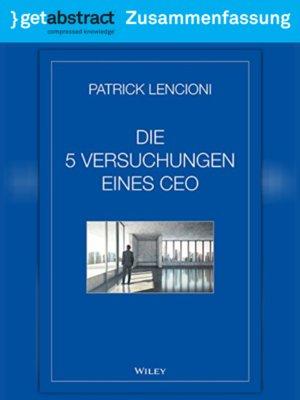 cover image of Die 5 Versuchungen eines CEO (Zusammenfassung)