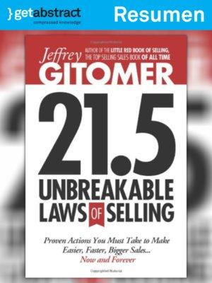 cover image of 21.5 leyes de ventas inquebrantables (resumen)