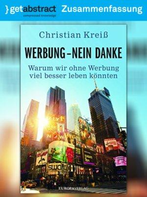 cover image of Werbung – nein danke (Zusammenfassung)