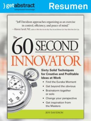 cover image of El innovador de 60 segundos (resumen)