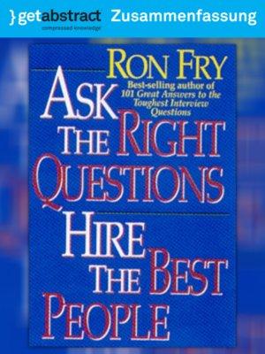 cover image of Mit den richtigen Fragen die richtigen Leute finden (Zusammenfassung)