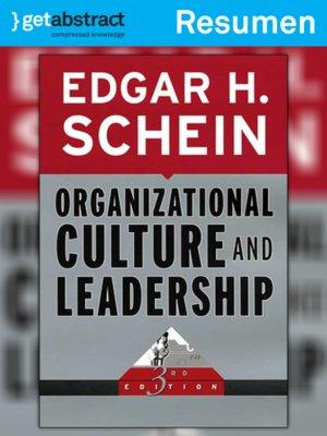 cover image of La cultura organizacional y el liderazgo (resumen)