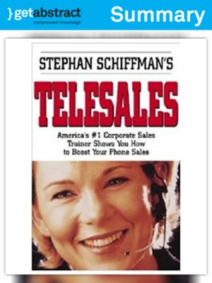 cover image of Stephan Schiffman's Telesales (Summary)